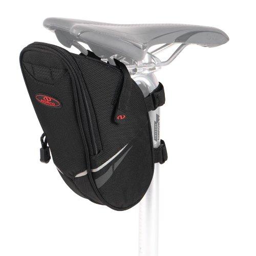 Norco Fahrradtasche Utah Satteltasche, Schwarz, 25 x 12 x 8 cm, 1.5 Liter