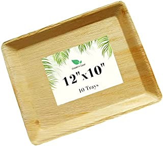 Charity Leaf Disposable Palm Leaf Like Bamboo Serving Tray and Platter   All Natural & Biodegradable   Charcuterie Boards,...