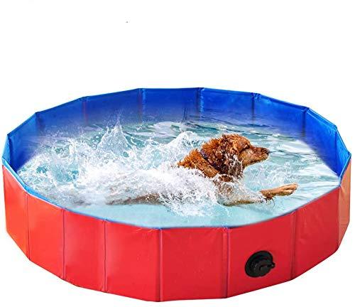 Hoom Piscina Plegable para Perros Gatos Bañera Portátil para Mascotas Plegable PVC Antideslizante y Resistente al Desgaste (80 * 20CM)