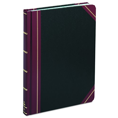 Boorum & Pease Record Book, 21 Series, Record Ruled, 8-1/8' x 10-3/8', 300 Pages (21-300-R),Black/Red
