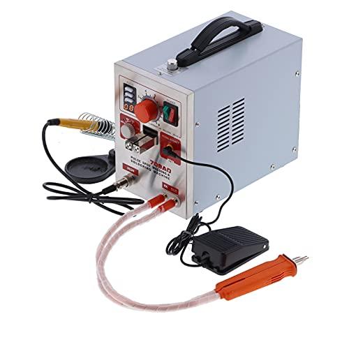 Máquina de Soldadura por Puntos de Batería de Litio 18650 3.2kw/AC220V/110V ± 20V, Soldadora por Puntos de Pulso de 0.3 Mm, Tiempo de Pulso Ajustable (Doble/Cuatro/Ocho), Pantalla Digital LED(EU 220V)