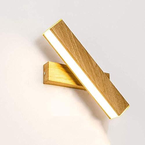 Led Applique Lampe de chevet Chambre moderne Minimaliste Creative Rotating Ceinture Commutateur Salon Aisle Nordic lecture Applique 12W 12.31 (Color : Yellow)