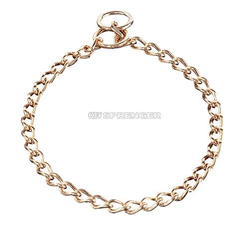 Herm Sprenger 20 Inch (50cm) Curogan 3.0 mm Choke Chain Slip Collar