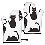 Ye Hua Silhouettes Cute Cats Seamless Pattern Vector Image_1344 Furniture Decorate Kitchen Oven Mitts Heat Resistant Oven Gloves