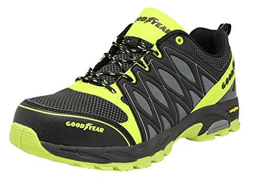 Goodyear 1503 S1 - SRA - Safety Shoes/Work Shoes/Sandals - Metal Free gyshu1503 Black/Blue/Green Size 12 (45 EU)