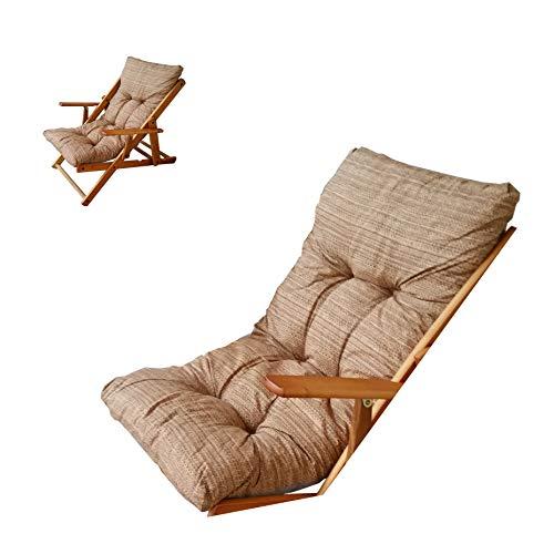 Coussin rembourré de rechange pour chaise longue, tissu anti-déchirure, couleur unie beige/sable