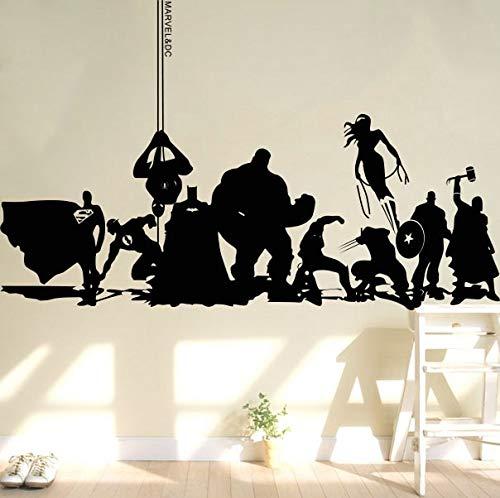 Tianpengyuanshuai creatieve wanddecoratie van staal helden reuzenhelden Captain kamer jongens, zelfklevend, wandtattoo voor kamer