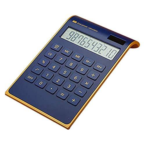 ZUEN Kreativer Taschenrechner Für Tragbare Elektronik Ultradünner Goldrahmen-Taschenrechner Solar Energy Caculator,C
