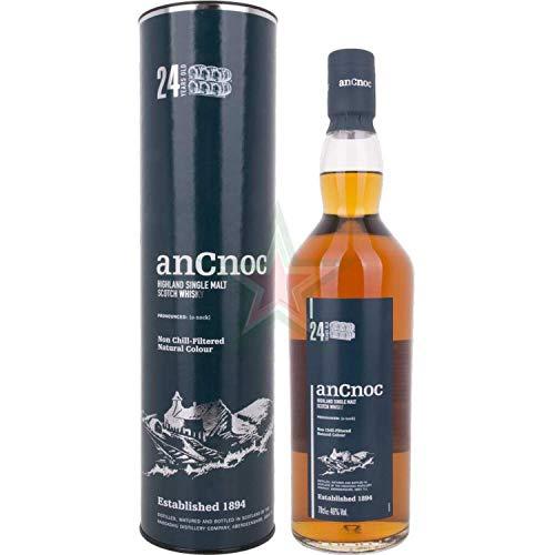 AnCnoc Ancnoc Whiskey di Malto Singolo Invecchiamento 24 Anni - 700 ml