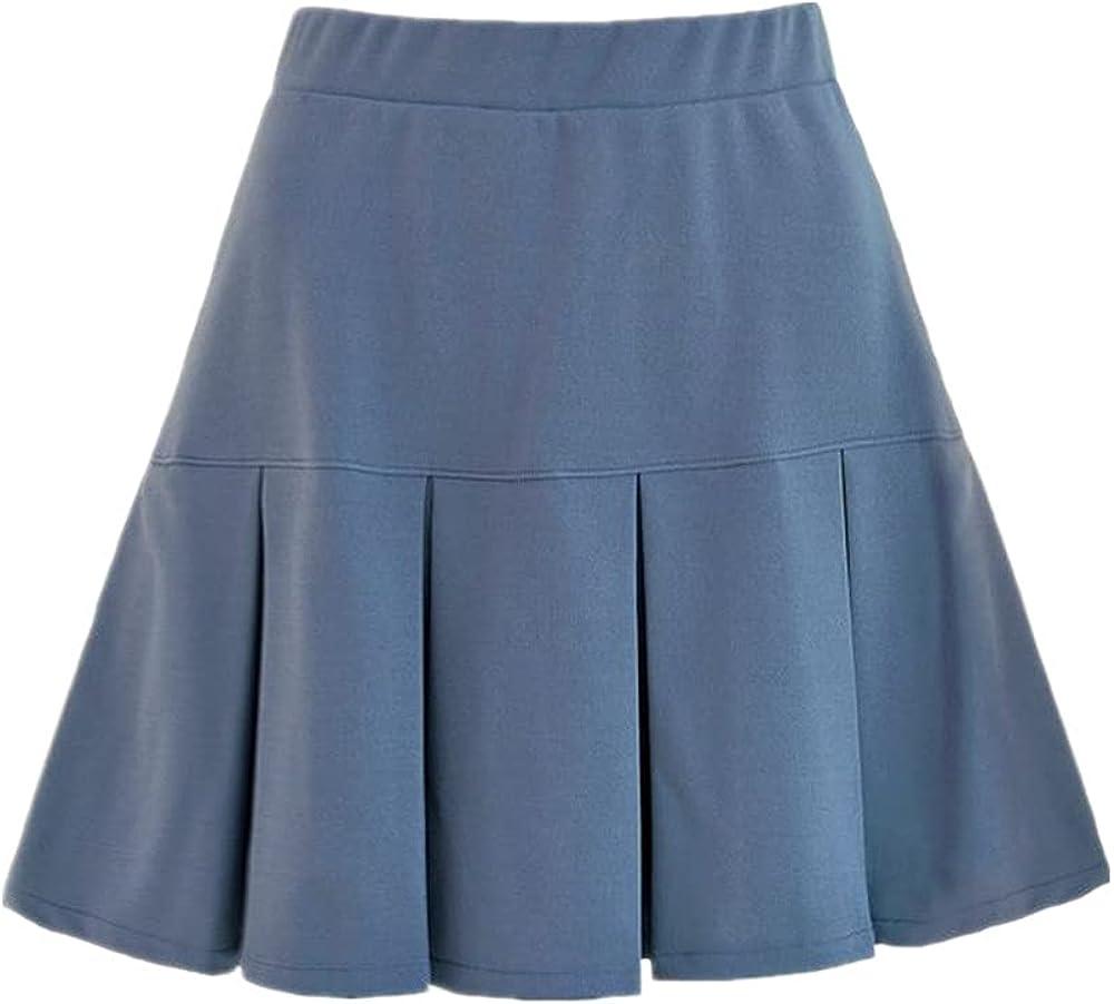 NP Summer Women Skirt Waist Pleated Color Joker Pleated Skirt Women Sweet