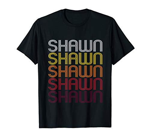 Shawn Retro Wordmark Pattern - Vintage Style T-shirt