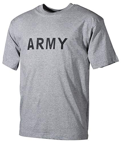 MFH US T-Shirt Army with Imprint (Grey/L)