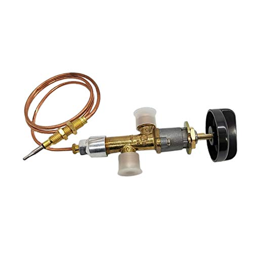 Baoblaze Control de Pozo de Fuego de Gas Propano Lpg, Dispositivo de Falla de Llama de Válvula de Seguridad, Válvula de Calentador de Gas de Grifo con Termopar
