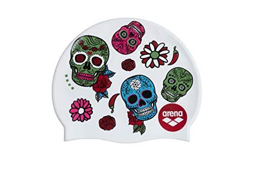 ARENA Print 2, Cuffia Unisex Adulto, Crazy Skulls Carnival, Multicolore