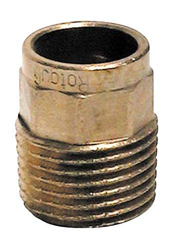 Sanitop-Wingenroth 11154 6 Rotguss-Übergangsnippel Nummer 4243G, 2 Stück, 15 mm x 1/2 Zoll AG, Zoll-2er Pack