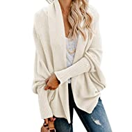 Imily Bela Women's Kimono Batwing Cable Knitted Slouchy Oversized Wrap Cardigan Sweater