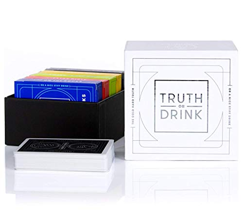 Truth or Drink - Fun Drinking Card Game for Adults, Great for Parties and Game Night