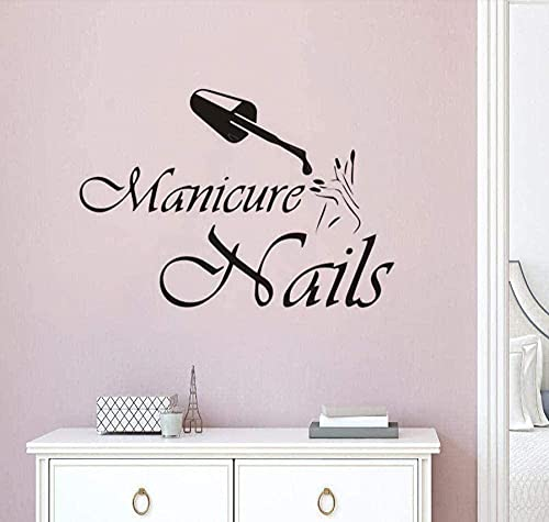 Autocollant mural Citations Stickers Muraux Nail art manucure logo salon de beauté studio vitrine art 57X40 cm