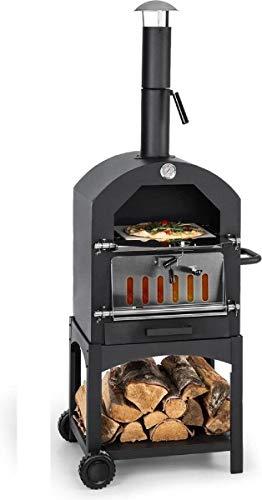 MaxxGarden - Forno per pizza da esterno, alla carbonella, con pala, 45 x 65 x 158 cm
