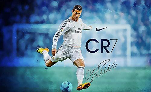 Cristiano Ronaldo CR7 Poster de joueur de football 30,5 x 45,7 cm