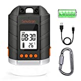 Sinvitron LED Camping Lantern Rechargeable, Power Bank 15000mAh, Camping Tent Light W/ Up to 500H Light Time & LCD Screen, 4 Light Mode, IP65 Waterproof for Emergency, Hurricane, Power Outage, Hiking