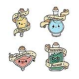 Dibujos animados colorido botella de poción esmalte Pin brujería magia insignia set mochila bolsa sombrero conjunto