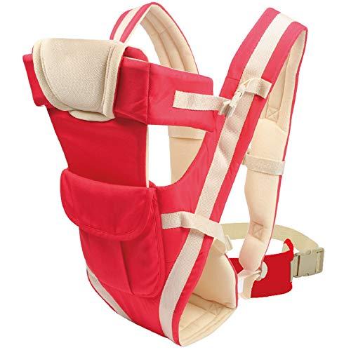 Portero, Diseño Ergonómico para Bebés, Multifunción, Madre Fácil, Adaptada Al Crecimiento De Su Hijo (Rojo),Red Belt