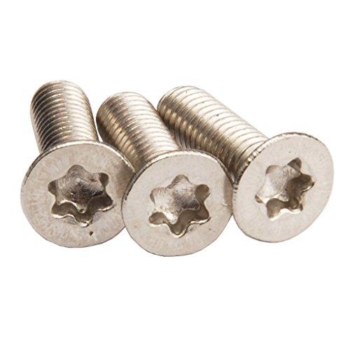 M2.5 Torx Screws Countersunk Head,Torx Flat Head Screws,Pack of 100-piece (M2.5 x 8mm)