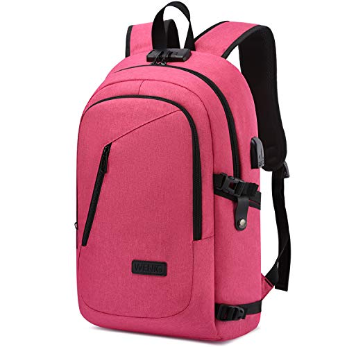 Business Laptop Backpack Anti-Theft College Backpack with USB Charging Port and Lock Computer Backpacks for Women Men Fit 15.6 Inch Laptops, Casual Hiking Travel Daypack