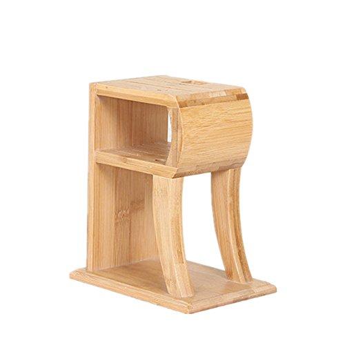 Hosaire 1x Messerblock Bamboo Praktischer Messerhalter R-Typ Küchenhelfer Besteck Geschenk