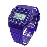 BDM Reloj clásico Casiopea Original para Hombre Mujer, niña o niño de Pulsera Digital con Alarma. Un Regalo Vintage. - Azul Oscuro