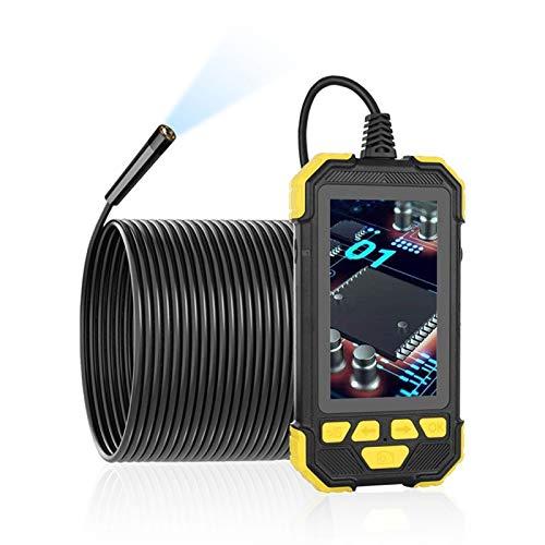 Verifique la cámara 3.9mm Digital endoscopio industrial de HD 1080P 4.3 pulgadas IPS completa pantalla color endoscopio IP67 a prueba de agua semi-rígido cable Boroscopio Se utiliza para el mantenimie