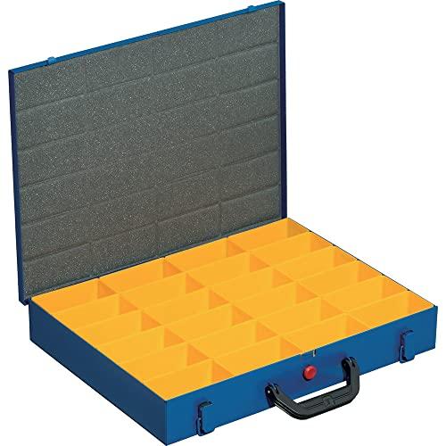 Allit 454122, Valigetta per attrezzi in lamiera, per pezzi piccoli, 24 scomparti, 44/24 x 63 cm