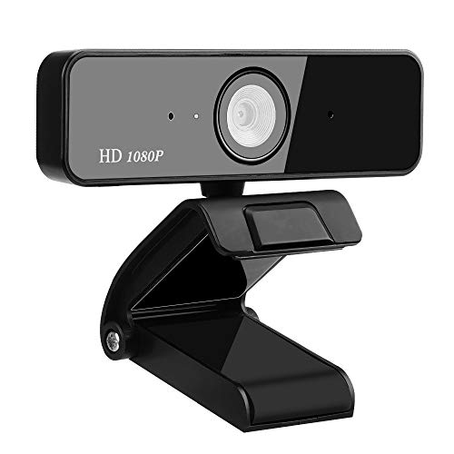 Aqonsie 1080P USB Webcam, Full HD Laptop Webcam with Microphone and Auto Fixed Focus, Plug and Play USB Webcam Streaming Web Camera 360° Rotatable PC Webcam for Video Conferencing Calling Recording