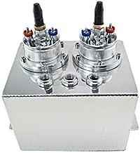 PQYRACING 3L Billet Aluminum Fuel Surge Tank/Surge Tank + External 044 Fuel Pump