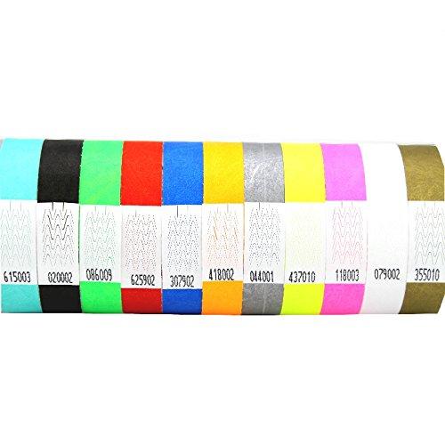 Premium KONTROLLBÄNDER / SECUREBÄNDER in allen Farben: 1000er Pack, Farbe: Rot