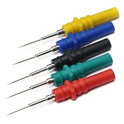 Cables de multímetro Tornillo de la sonda de la prueba de la prueba de la prueba de la aguja Conjunto del osciloscopio de la prueba del diagnóstico automático multimetro