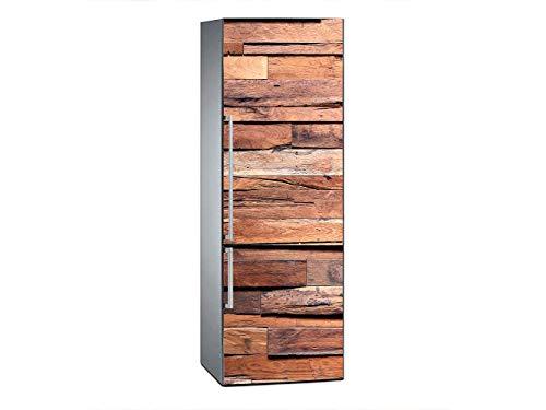Oedim Vinilo para Frigorífico Listones de Madera 185x60cm | Adhesivo Resistente y Económico | Pegatina Adhesiva Decorativa de Diseño Elegante