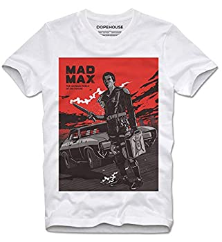 T-Shirt Mad Max 70s V8 Interceptor Bad Ass Dystopia Post Apocalyptic Action Cult Movie Retro Vintage - S White