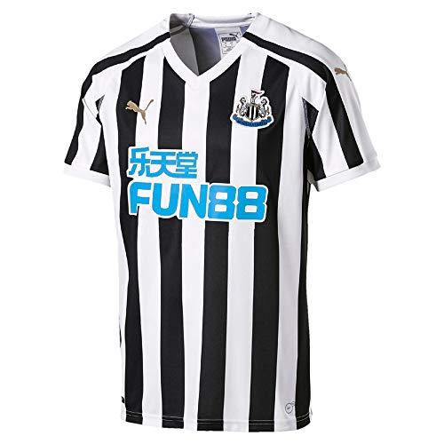 PUMA Herren T-Shirt NUFC Home Replica with Sponsor Logo, Puma White/Puma Black, XXL, 753802