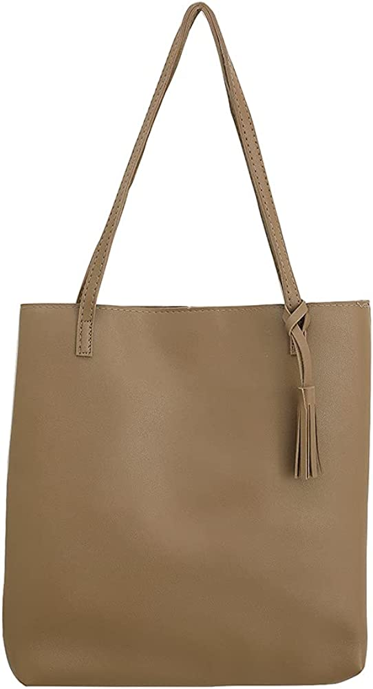 Womens Handbag, Pu Leather Bucket Tote Purse And Handbags Medium Satchel Hobo Purse Designer Work Shoulder Bags