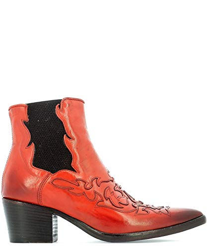 Alberto Fasciani Luxury Fashion Womens Ankle Boots Summer Red