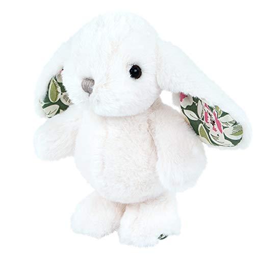 Teddys Rothenburg Bukowski Kuscheltier Hase Bouncy weiß grün 15 cm Bukowski Plüschtier Stofftier Baby Kind Spielzeug