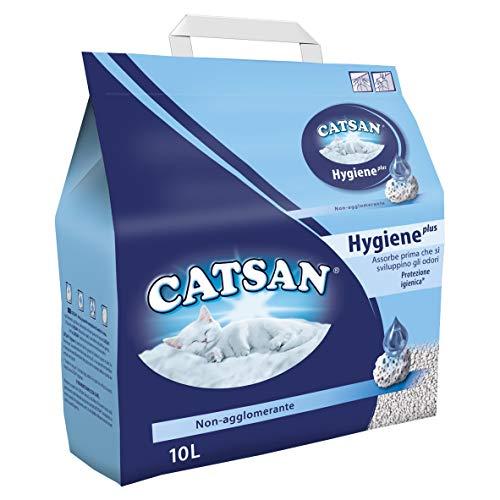 Catsan Hygiene Plus Lettiera per Gatti, 10 L