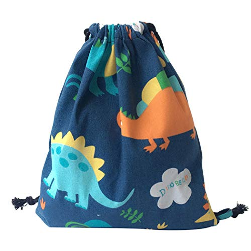 iSuperb Bolsas de Cuerdas para Viajes Gimnasio Mochila con Cordon El Deporte Unisex Drawstring Bags (Dinosaurio)