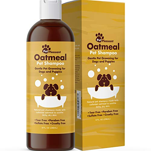 Natural Dog Shampoo for Dry Skin - Moisturizing Colloidal Oatmeal Dog Shampoo for Smelly Dogs and Dog Grooming Supplies - Natural Pet Shampoo for Dogs for Pet Odor and Dog Wash Puppy Supplies