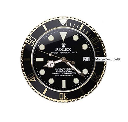 Rolex Submariner Clock. nero e oro - Jewelers Display Clock - Promozionale - non per la vendita generale