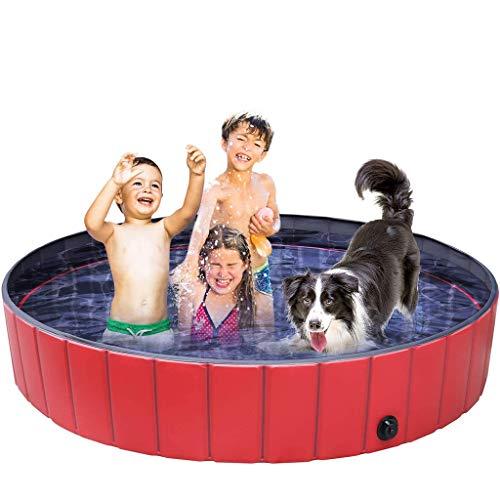 Vasca Da Bagno Per Cani, Piscina Per Bambini Golden Retriever Alaska Vasca Per Cani Grande Per Animali Domestici Lavabo Cani Piscina Animali Di Piccola Taglia Pieghevoli Cani Gatti Piscina,160 * 30cm