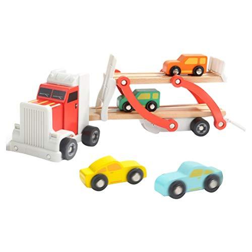 YeahiBaby Camión de Juguete Transporte Transportador de Juguete Vehículos retirados Modelo de vehículo de ingeniería Juguete para niños