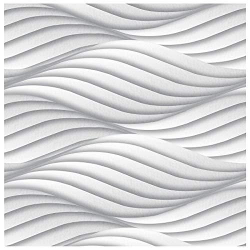 3D Wandpaneel - effektvolle Wandgestaltung mit detaillierten Polystyrolplatten, EPS deutliche Musterung, leicht und stabil - 1 Platte 60x60cm Wind